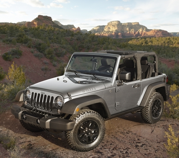 The Jeep Wrangler Willys Wheeler Edition is based on the Wrangler Sport model, but features upgraded hardware. COURTESY