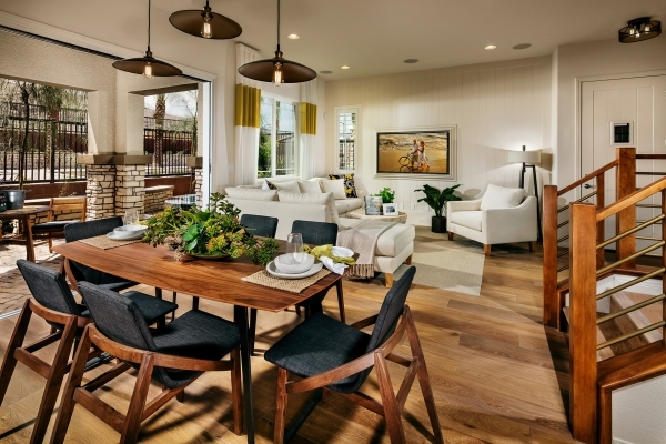 The Vista Dulce luxury townhomes by Toll Brothers offer three of the 22 floor plans offered in Summerlin's Mesa Village. PROMOTIONAL