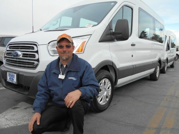 Veteran Friendly Ford automobile executive David Boehle is an expert on various lines of Fords, including the 2016 Ford Transit, at the dealership at 660 N. Decatur Blvd. COURTESY