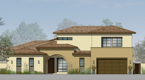 This artist's rendering shows one of Pardee Homes' desert contemporary floor plans at Escala in Inspirada in Henderson. PROMOTIONAL