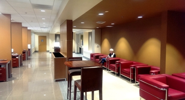 The construction project at Findlay Acura includes expansion of the service waiting area. COURTESY