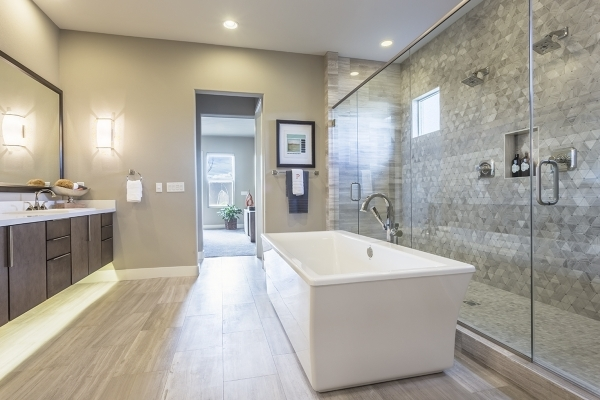 Klif Andrews, Pardee Homes Las Vegas division president, said homebuyers are gravitating toward these trends as well as oversized showers in the master bath. COURTESY
