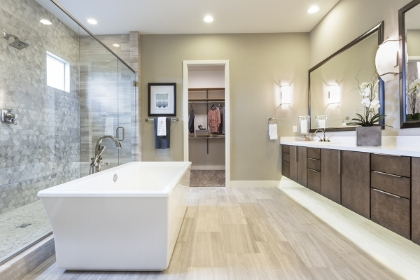 Oversized tubs are popular in master suite baths. COURTESY