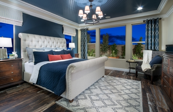 Aaron Alred, general sales manager for Pulte Homes, said master suites have a side room next to the bedroom for a television area or office space. COURTESY