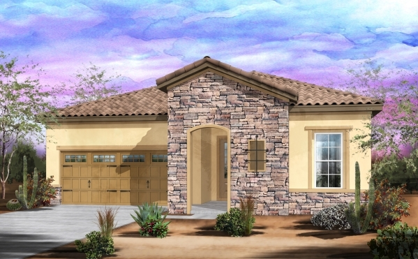 A Rendering Shows Beazer Homes New Zion Home Model Which Will Open Today At