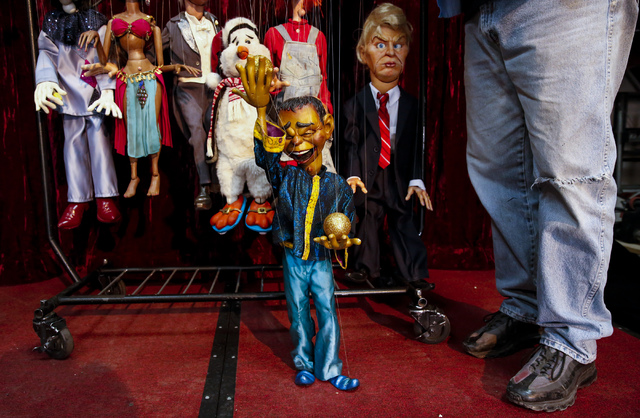 A juggling marionette modeled after Gilbert Gottfried at Team Land Productions in Las Vegas on Wednesday, Feb. 1, 2017. (Miranda Alam/Las Vegas Review-Journal) @miranda_alam