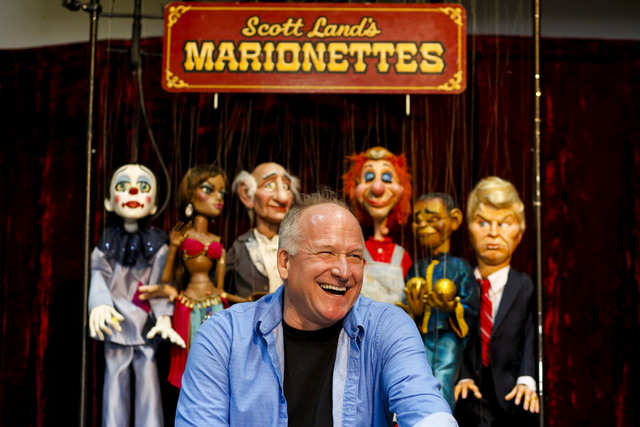 Scott Land, master puppeteer and owner of Team Land Productions, at his company's warehouse in Las Vegas on Wednesday, Feb. 1, 2017. (Miranda Alam/Las Vegas Review-Journal) @miranda_alam