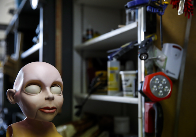 An unfinished marionette at Team Land Productions in Las Vegas on Wednesday, Feb. 1, 2017. (Miranda Alam/Las Vegas Review-Journal) @miranda_alam