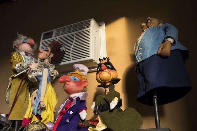 Puppets on display at Team Land Productions in Las Vegas on Wednesday, Feb. 1, 2017. (Miranda Alam/Las Vegas Review-Journal) @miranda_alam