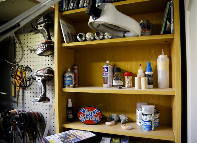 The workstation of Scott Land, master puppeteer and owner of Team Land Productions, at his company's warehouse in Las Vegas on Wednesday, Feb. 1, 2017. (Miranda Alam/Las Vegas Review-Journal) @mir ...
