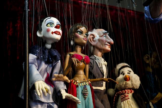 Marionettes at Team Land Productions in Las Vegas on Wednesday, Feb. 1, 2017. (Miranda Alam/Las Vegas Review-Journal) @miranda_alam