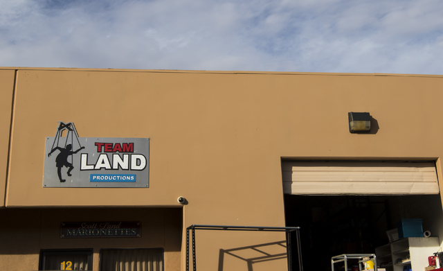 The exterior of Team Land Productions in Las Vegas on Wednesday, Feb. 1, 2017. (Miranda Alam/Las Vegas Review-Journal) @miranda_alam
