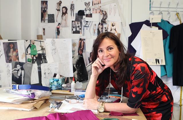 Catharine Trifiletti, a uniform designer, pins the inspiration for her collection on her studio wall on 618 Las Vegas Blvd. South on Friday, Feb. 12, 2017, in Las Vegas. (Bizuayehu Tesfaye/Las Veg ...