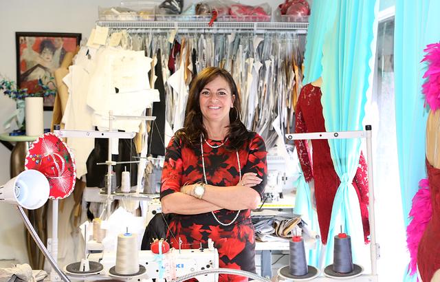 Catharine Trifiletti, a uniform designer, in her design studio on 618 Las Vegas Blvd. South on Friday, Feb. 12, 2017, in Las Vegas. (Bizuayehu Tesfaye/Las Vegas Review-Journal) @bizutesfaye