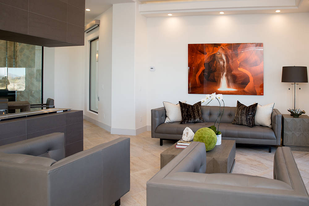 TONYA HARVEY/REAL ESTATE MILLIONS  This 5,209-square-foot home on Sunglow Lane in Summerlin's The Ridges was give the luxury staging treatment before it was placed on the market.