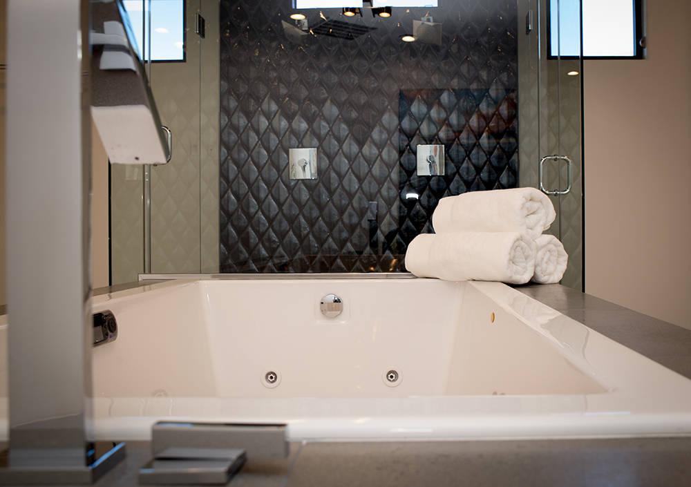 TONYA HARVEY/REAL ESTATE MILLIONS  The master bath.