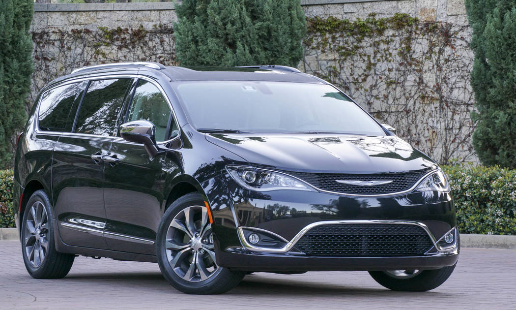 COURTESY The 2017 Chrysler Pacifica is a family minivan with available hybrid option.