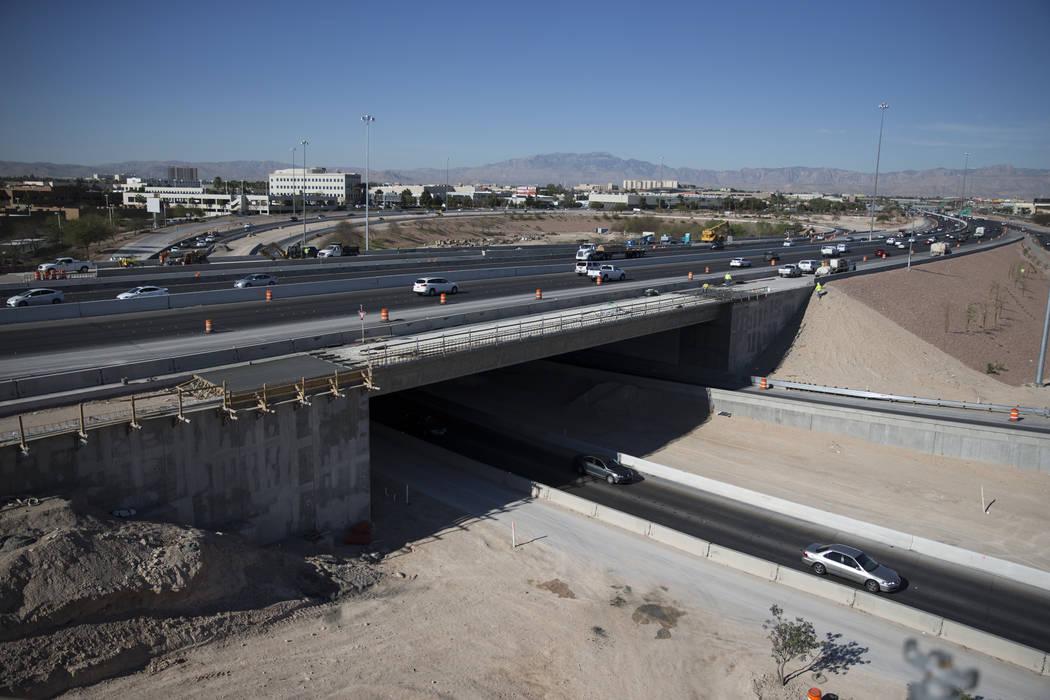 The McCarran Airport Connector construction project on Thursday, March 16, 2017, in Las Vegas. (Erik Verduzco/Las Vegas Review-Journal) @Erik_Verduzco