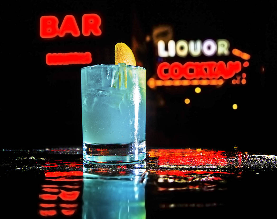 """The """"Getting Off on Frank Sinatra"""" cocktail at Atomic Liquor  on Tuesday, March 14, 2017, in Las Vegas. The drink was made in honor of local author Megan Edwards' premiere party  ..."""