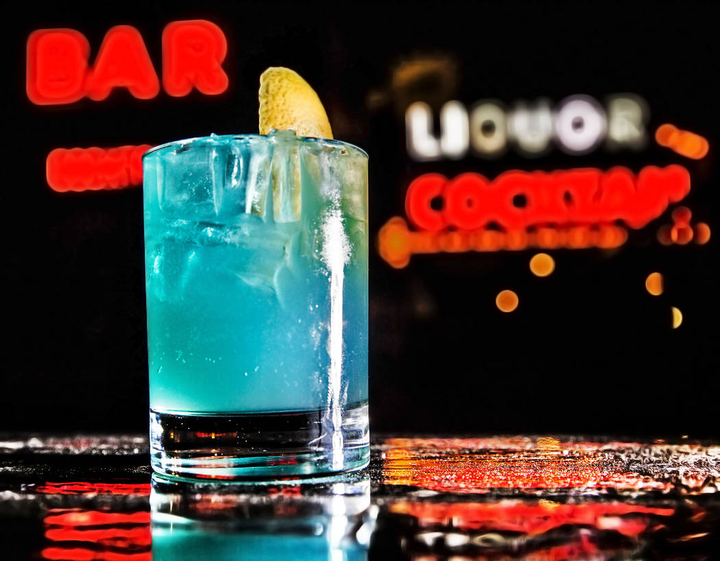 "The ""Getting Off on Frank Sinatra"" cocktail at Atomic Liquor  on Tuesday, March 14, 2017, in Las Vegas. The drink was made in honor of local author Megan Edwards' premiere party  ..."