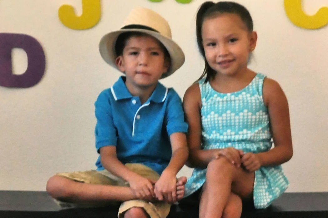 This is a 2016 family handout photo of Abraham Chavez, left, and his twin sister Aiden before his surgery at the University Medical Center on Friday, Jan. 20, 2017, in Las Vegas. It is hoped the f ...