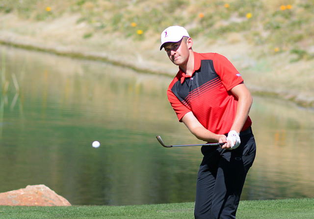 UNLV sophomore Harry Hall, shown last season, is in a four-way tie for second place after two rounds of The Goodwin, and the Rebels are third in the 24-team field. (UNLV courtesy photo)