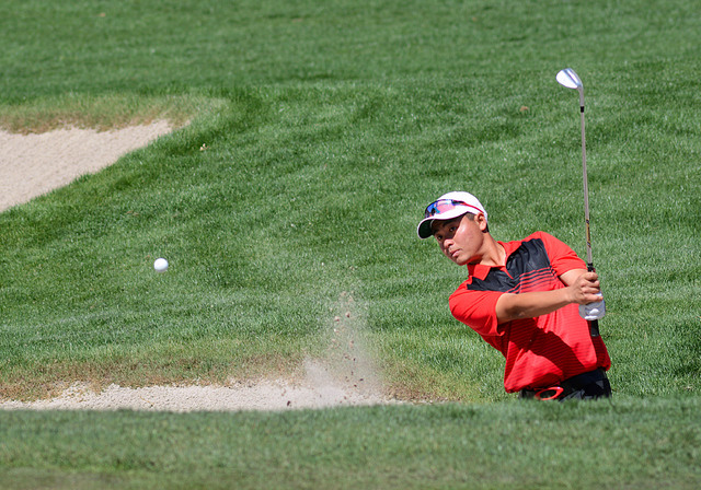 John Oda, shown last year, tied for the best score in the final round Saturday in helping UNLV place third out of 24 teams at The Goodwin in Palo Alto, Calif. (UNLV)
