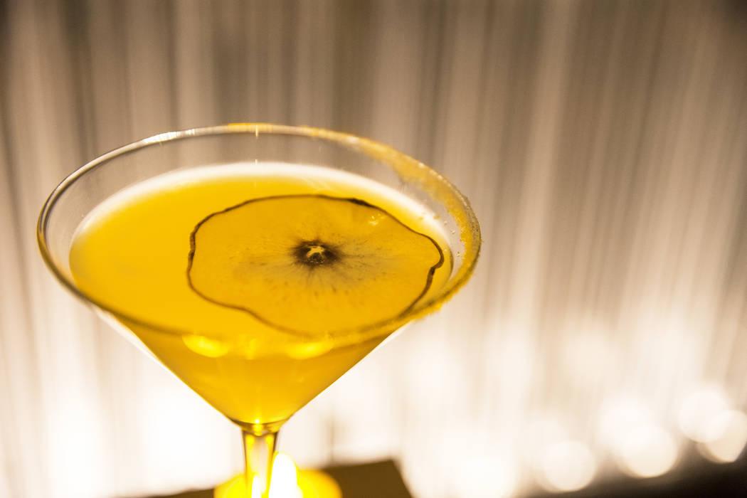 Pear martini at Morimoto on Thursday, March 23, 2017, at the MGM Grand hotel/casino, in Las Vegas. (Benjamin Hager/Las Vegas Review-Journal) @benjaminhphoto