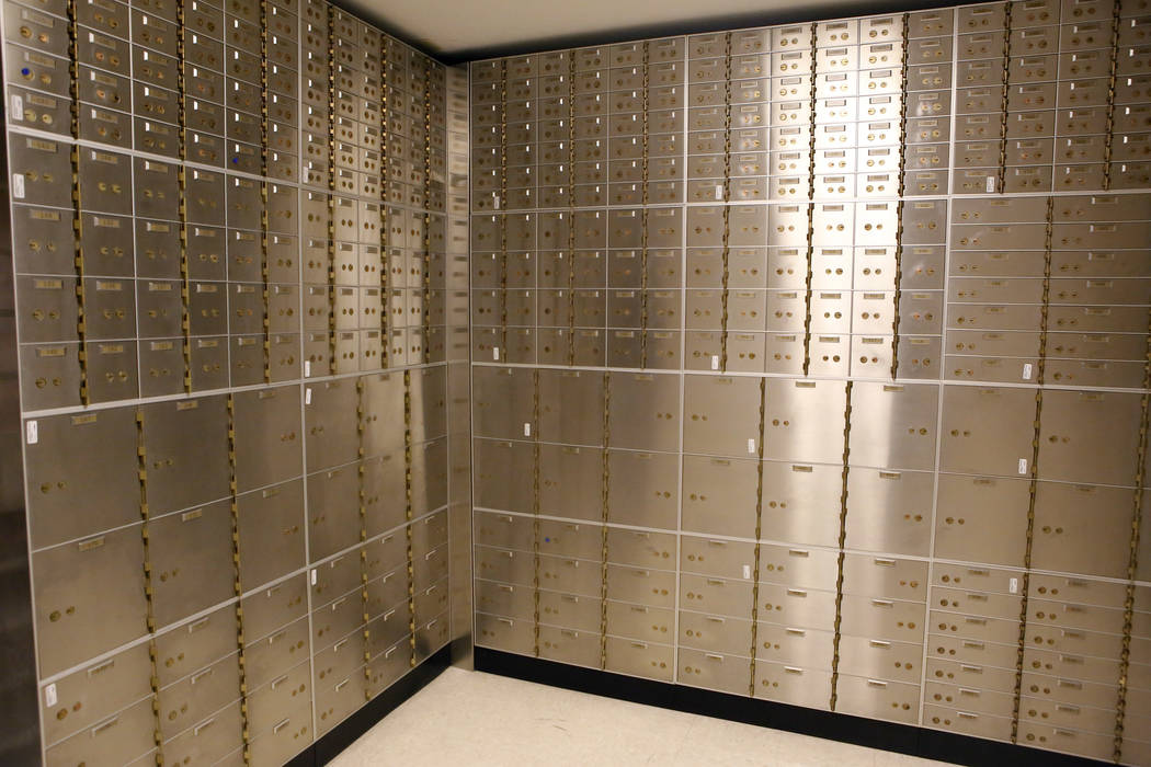 A vault inside the Nevada State Bank located at 750 E Warm Springs Rd on Thursday, March 23, 2017, in Las Vegas. (Christian K. Lee/Las Vegas Review-Journal) @chrisklee_jpeg