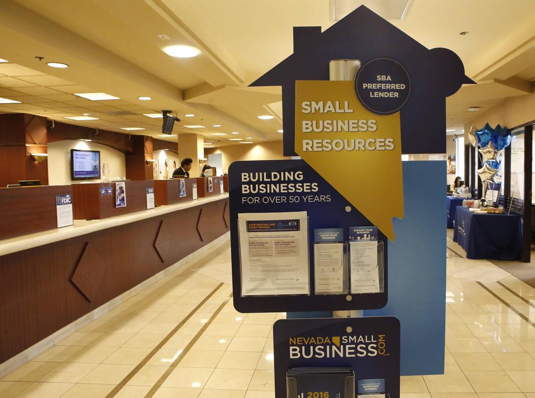 Nevada State Bank on Thursday, March 23, 2017, in Las Vegas. (Christian K. Lee/Las Vegas Review-Journal) @chrisklee_jpeg