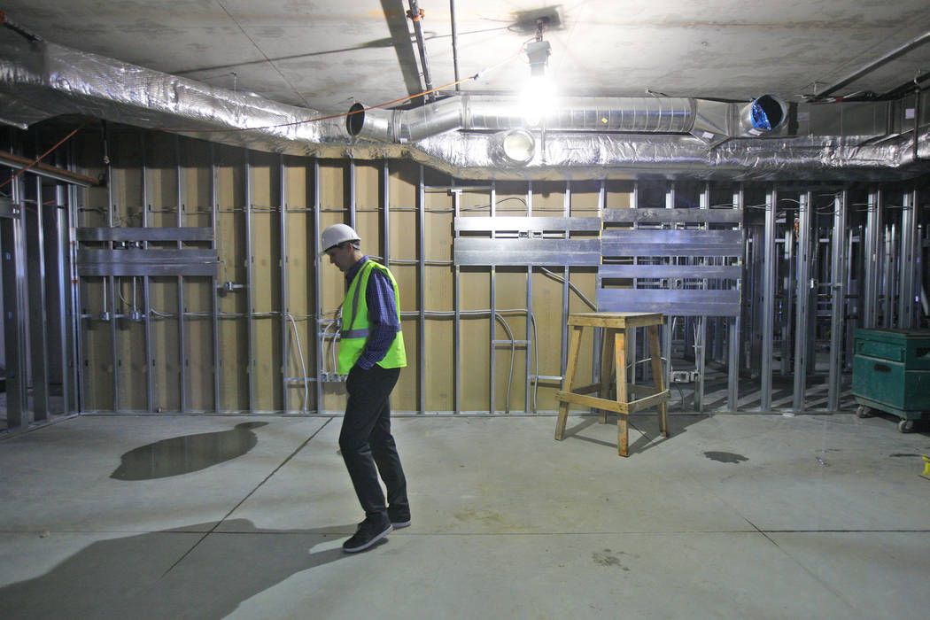 Murray Craven, vice president for the Golden Knights hockey team, stands inside the future players lounge at the team's practice facility construction site on Monday, March 27, 2017, in Las Vegas. ...