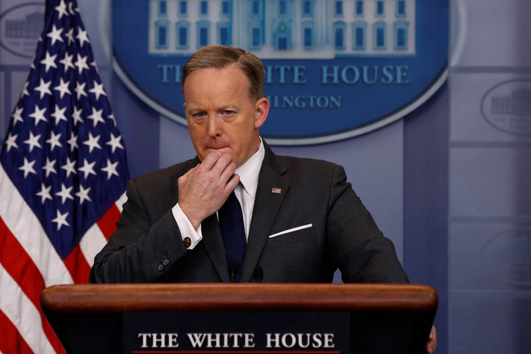 White House Press Secretary Sean Spicer holds the daily press briefing at the White House in Washington, U.S., March 27, 2017. (Jonathan Ernst/Reuters)
