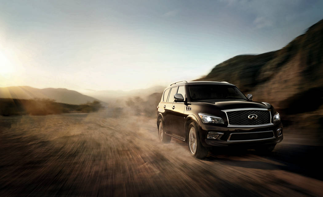COURTESY Park Place Infiniti, 5555 W. Sahara Ave., highlights the 2017 Infiniti QX80, featuring a 5.6-liter V-8 engine, inner beauty and first-class style.