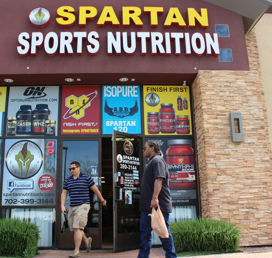 Outside Spartan Sports Nutrition in North Las Vegas on Wednesday, March 29, 2017. (Gabriella Benavidez/Las Vegas Review-Journal) @gabbydeebee