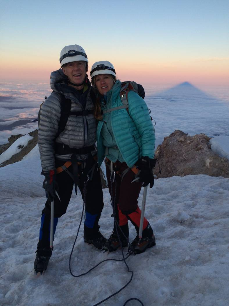 After surgery, Thomas Stoeser and wife Keke were able to go to top of Mt. Hood in Oregon. (Thomas Stoeser)