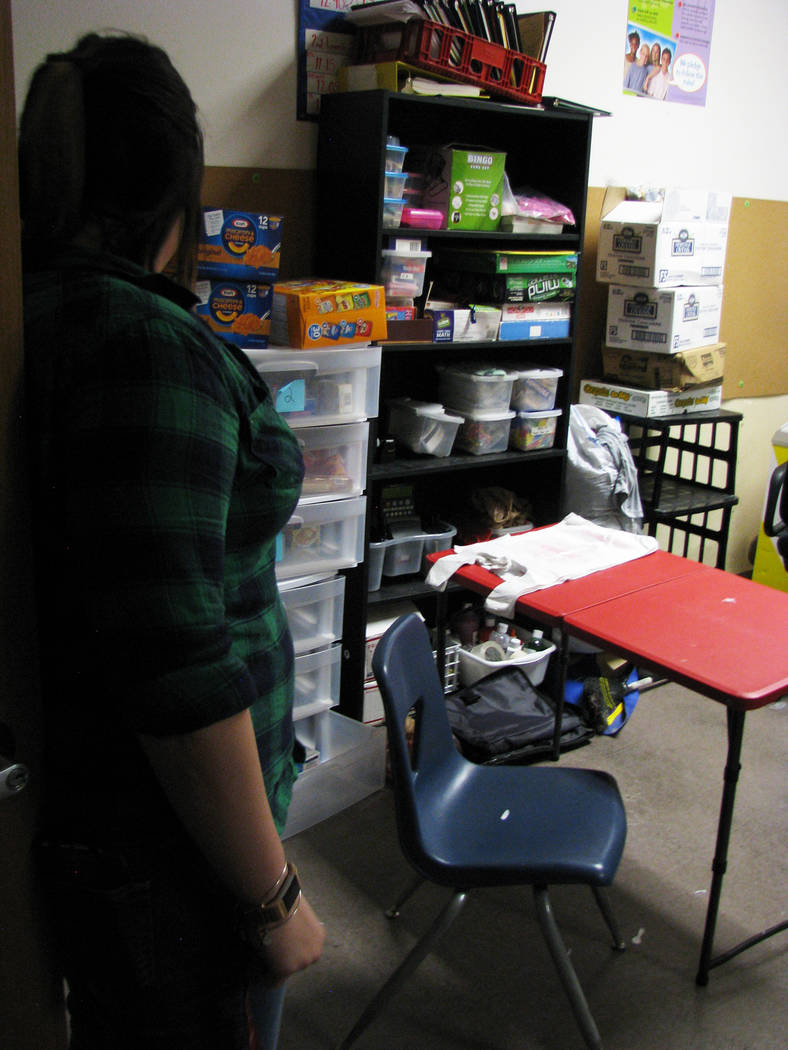 Supplies for Las Vegas High School's homeless population are spread across five locations at the school.  (F. Andrew Taylor/View) @FAndrewTPress