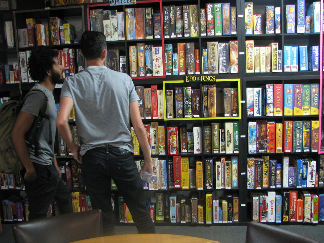 Customers choose from over 1,500 games available to play at Meepleville, 4704 W. Sahara Ave. (F. Andrew Taylor/View) @FAndrewTPress