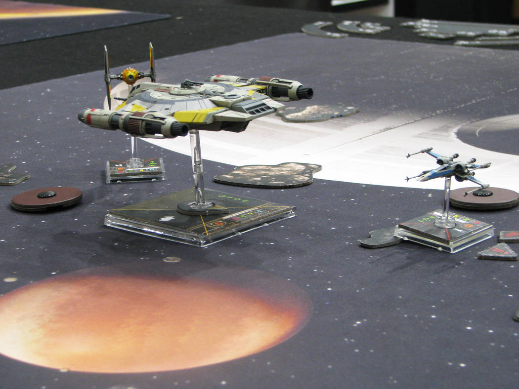 """""""Star Wars Armada"""" utilizes incredibly detailed playing pieces. It is one of the games that can be played at at Meepleville, 4704 W. Sahara Ave. (F. Andrew Taylor/View)"""