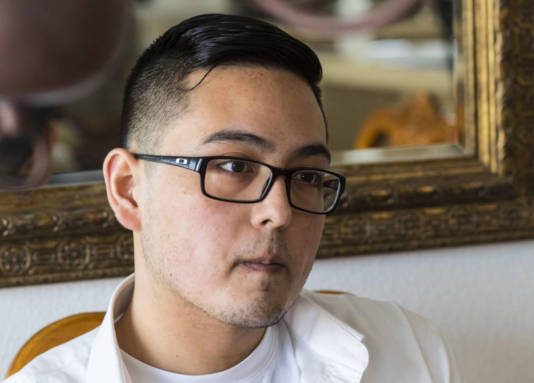 Kyle Anthony Silveroli, 23, in his home in Las Vegas on Thursday, March 30, 2017. (Miranda Alam/Las Vegas Review-Journal) @miranda_alam