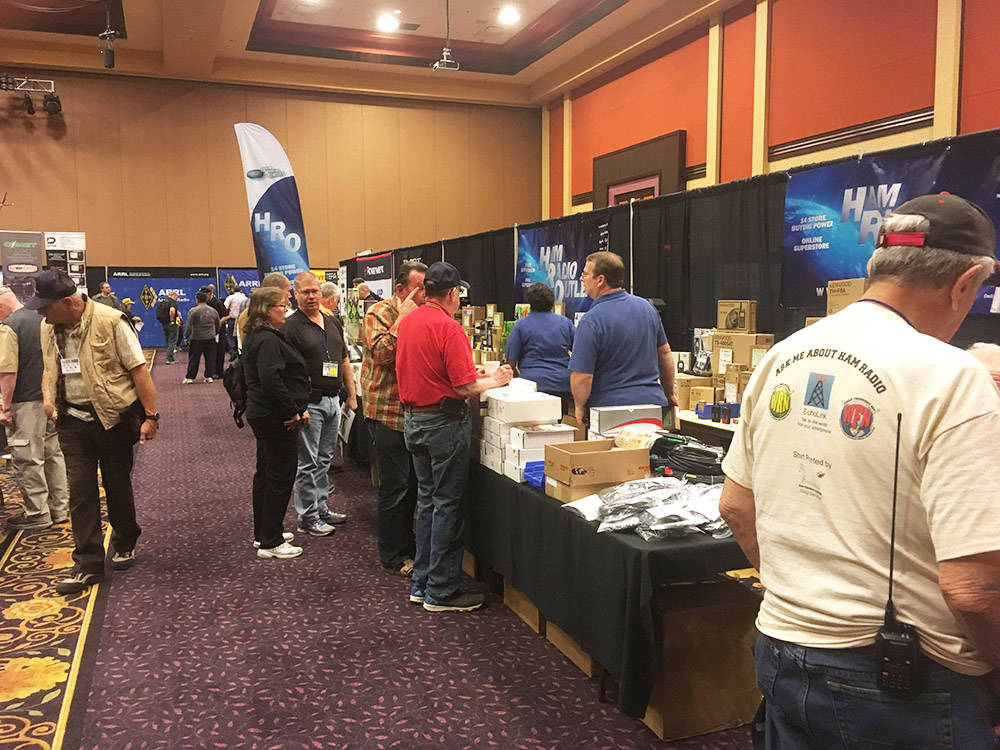 Attendees view the wares April 1 on the second day of the three-day American Radio Relay League state convention at the Eastside Cannery. (Brian Sandford/View)