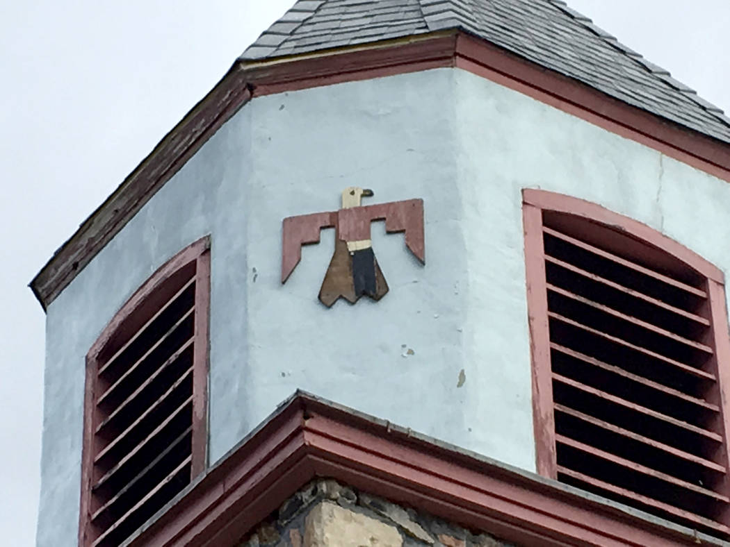 Detail on a church building at Stewart Indian School in Carson City on Thursday, March 30, 2017. (Sean Whaley/Las Vegas Review-Journal)