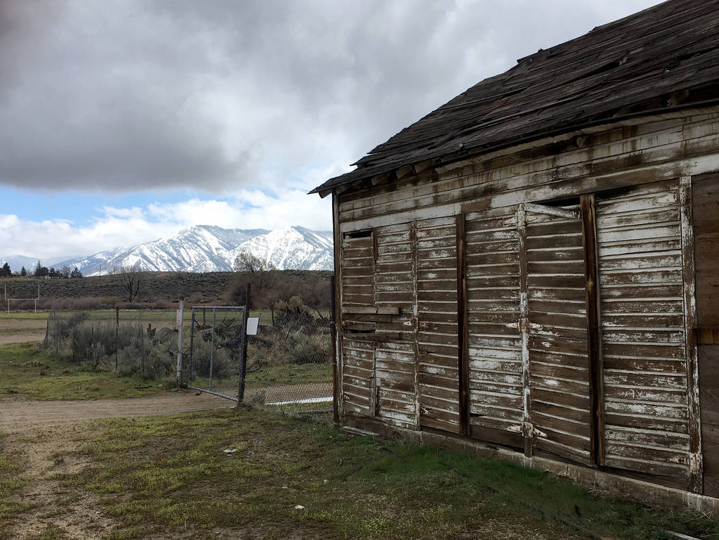 Decaying building at the Stewart Indian School in Carson City on March 30, 2017. (Sean Whaley/Las Vegas Review-Journal)