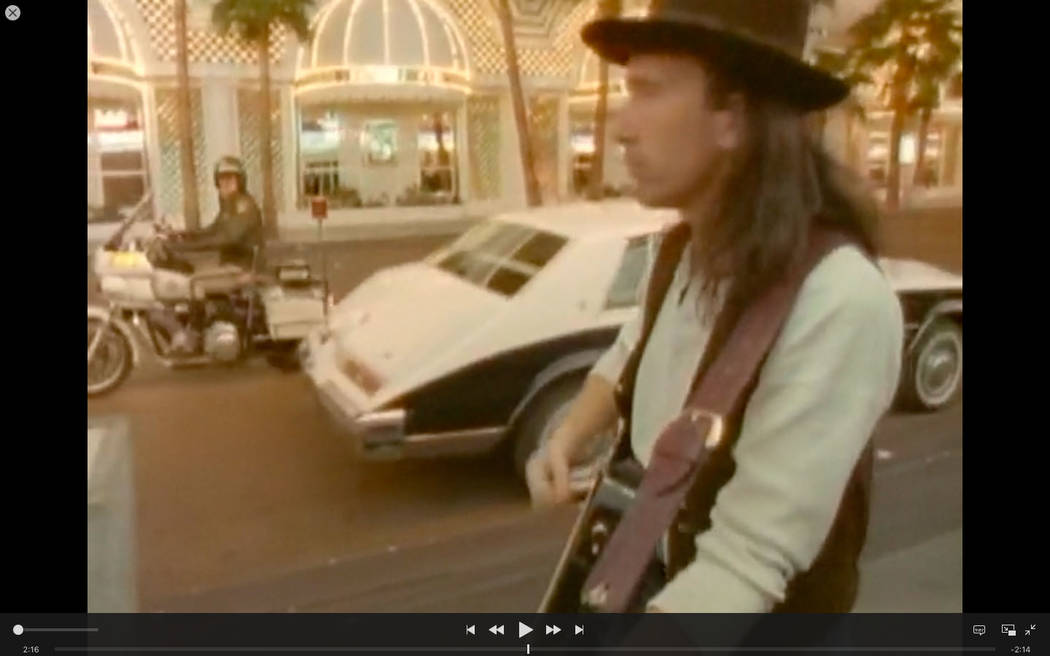 "A scene from U2's  iconic ""I Still Haven't Found What I'm Looking For"" video filmed on Fremont Street on April 12, 1987."