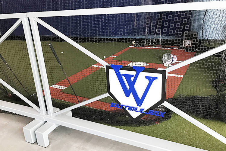 Vegas Valley Batter's Box has one cage designed for golf purposes, where customers can practice their drives and approach shots. (Danny Webster/View).