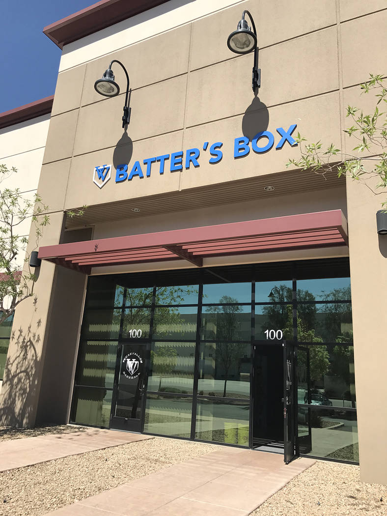 The exterior of Vegas Valley Batter's Box, located at 7300 Eastgate Road, Suite 100. (Danny Webster/View)