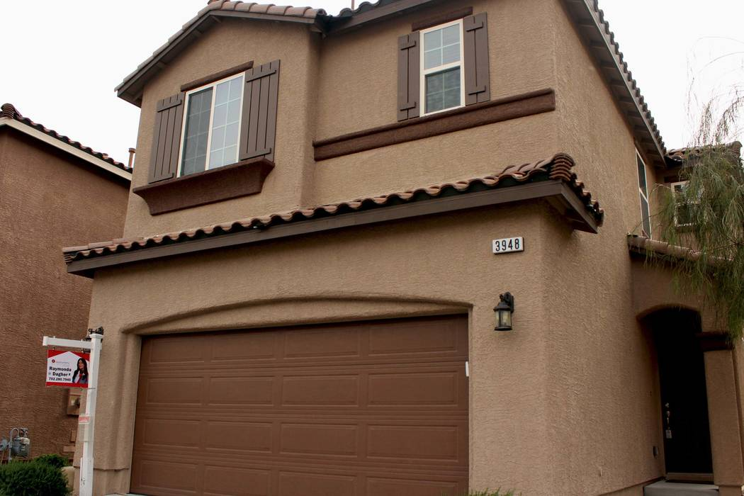 The home at 3948 Squall Court is listed for sale in Las Vegas, Friday, March 31, 2017. (Gabriella Benavidez/Las Vegas Review-Journal) @gabbydeebee