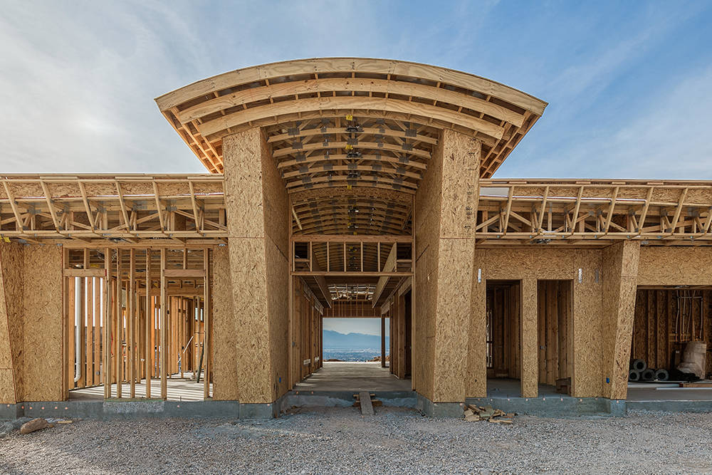 A luxury home under construction at MacDonald Highlands in Henderson. (Richard Luke Architects)