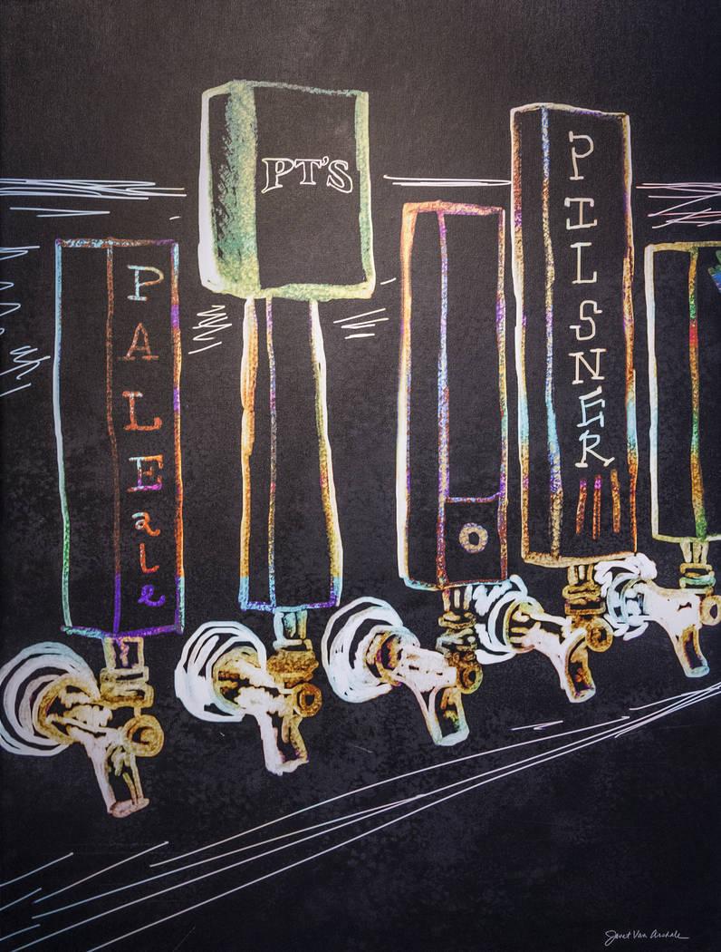 Beer-themed artwork at PT's Brewing Company on Tuesday, April, 4, 2017, in Las Vegas. (Benjamin Hager/Las Vegas Review-Journal) @benjaminhphoto