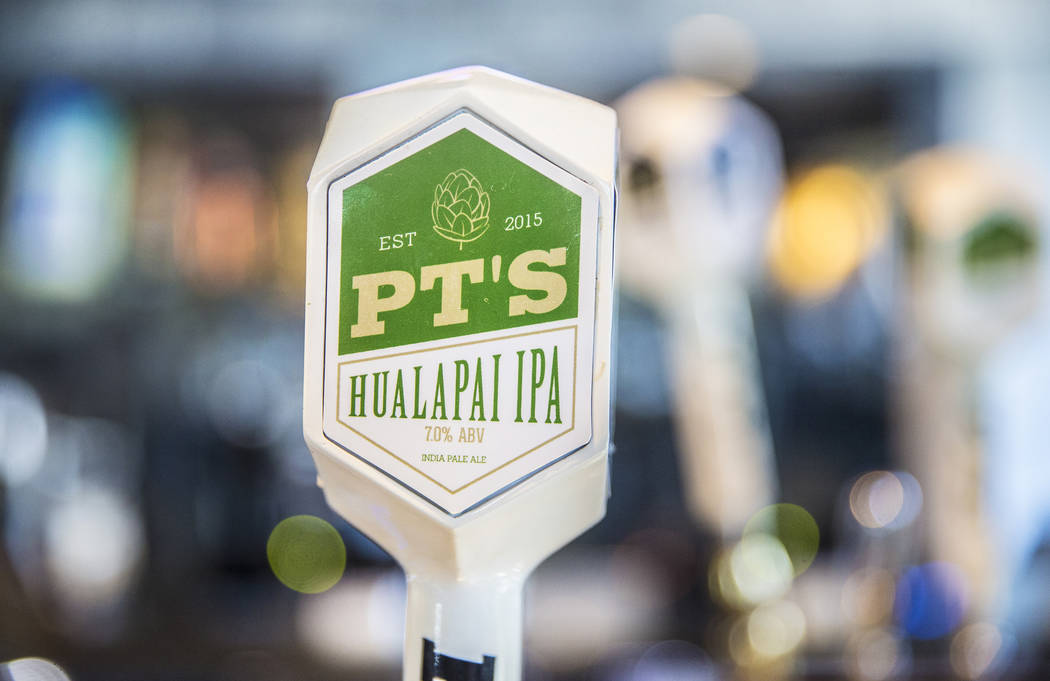 PT's Brewing Company offers a large selection of signature house brews, including Horizon Light, Sahara Pale Ale and Sunset Wit. Photo taken at PT's Brewing Company, on Tuesday, April, 4, 2017, in ...