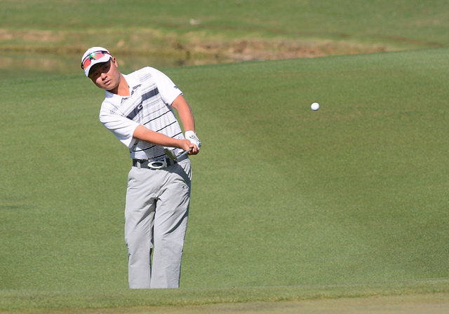 Jon Oda, shown last year, shot 6-under-par 66 on Friday and sits atop the leaderboard after the first round of the Mountain West Championship in Tucson, Ariz. (UNLV)